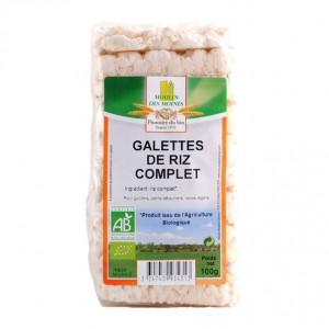 Moulin des Moines Galettes de Riz Complet - 100g Pour le goûter, le petit déjeuner et les repas légers