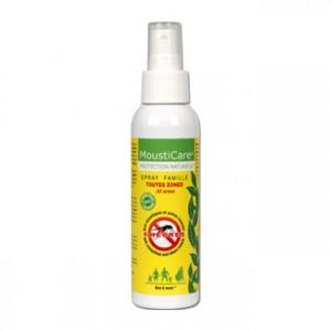 mousticare spray famille125 ml jusqu'à 6 heures sans moustiques et autres insectes efficace contre moustique tigre
