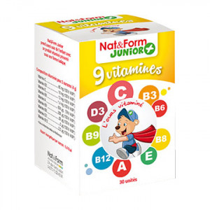 Junior +  -  9 Vitamines - 30 Gommes