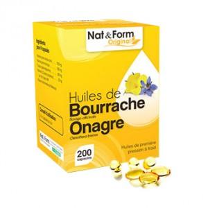 Nat & Form Original - Huiles de Bourrache Onagre - 200 Capsules