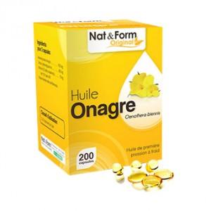 Nat & Form Original - Huile Onagre 200 Capsules