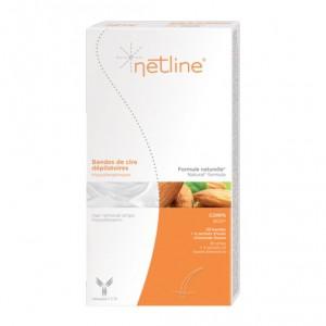 C.C.D Netline - Bandes de Cire Dépilatoires - 20 Bandes Hypoallergénique Formule naturelle Epilation corps Sans paraben