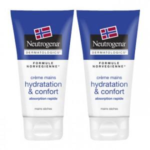 Neutrogena Crème Mains Hydratation & Confort Absorption Rapide 75 ml Lot de 2  OFFRE SPÉCIALE