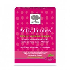 New Nordic Activ'Jambes - Jambes Lourdes et Fatiguées 30 Comprimés Soulage la sensation de jambes lourdes et fatiguées