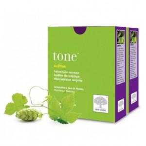 New Nordic Tone Lot de 2 Boites Aide à préserver et maintenir une bonne audition. Aide à lutter contre les bourdonnements, les bruits et les sifflements d'oreille
