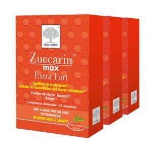 Zuccarin Max Extra Fort 45 Comprimés - Lot de 3 Boites