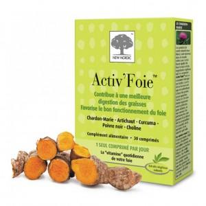 New Noridc Activ'Foie 30 Comprimés Contribue à une meilleure digestion des graisses et favorise le bon fonctionnement du foie