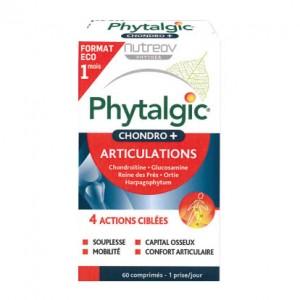 Nutreov Phytalgic Chondro + Articulations - 60 Comprimés Format ECO 1 mois 4 actions ciblées Souplesse, mobilité, capital osseux et confort articulaire Formule experte acide hyaluronique 3401560187885