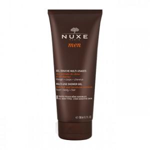 Nuxe Men Gel Douche Multi-Usages 200 ml pour homme hygiène visage, corps et cheveux Hyperpara