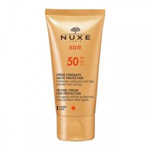 Nuxe Sun Crème Fondante Visage SPF50 50 ml votre soin solaire haute protection idéal pour les peaux claires et sensibles Hyperpara