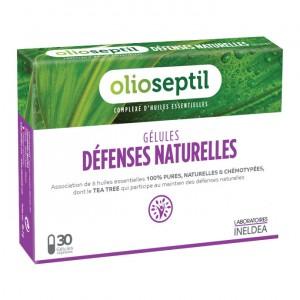 Oliospetil Défenses Naturelles - 30 Gélules Végétales Participe au maintien des défenses naturelles 3700225603372
