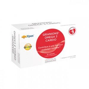 Laboratoire des Granions Omega 3 Cardio 30 Capsules Contribue à une fonction cardiaque normale 1 mois d'utilisation