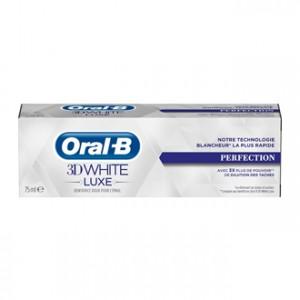 Oral B 3D White Luxe - Perfection 75 ml La technologie blancheur la plus rapide Avec 3x plus de pouvoir de dilution des taches