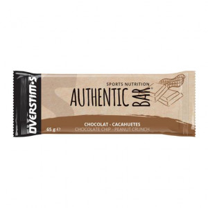 Overstims Authentic Bar - Saveur Chocolat Cacahuètes - 65gr Sports nutrition Sélection d'ingrédients de qualité Saveur gourmande Énergie progressive (+250 Kcal / barre) Antioxydants