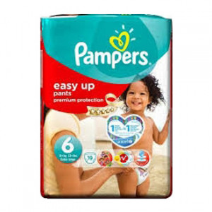 Pampers Easy Up - 6 Extra Large +15kg 19 Couches
