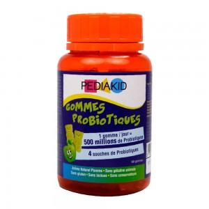 Pédiakid Gommes Probiotiques - 60 Gommes 1 gomme / jour = 500 millions de probiotiques 4 souches de probiotiques A partir de 3 ans 3700225602344