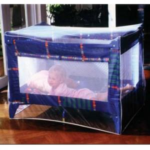 PharmaVoyage Moustiquaire Imprégnée Lit Bébé lit à barreaux ou lit parapluie