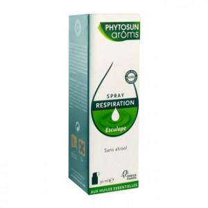 Phytosun Aroms Esculape - Spray Respiration 30 ml Sans alcool BIO 100% huiles essentielles HEBBD