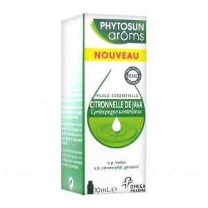 Phytosun Aroms Huile Essentielle Citronnelle de Java 10 ml Cymbopogon winterianus 100% HEBBD Diffusion