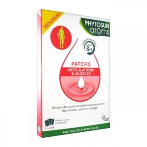 Phytosun Aroms Patchs Articulations et Muscles 3 Patchs Tension des zones articulaires et musculaires Décontracte, apaise et soulage