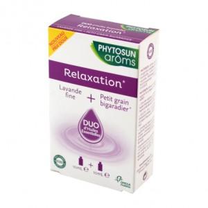 Phytosun Aroms Relaxation - DUO d'Huiles Essentielles Lavande Fine - 10 ml + Petit Grain Bigaradier - 10 ml 100% HEBBD