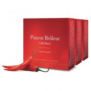 New Nordic Piment Brûleur Lot de 3 boites En stimulant votre métabolisme, Piment Brûleur™ vous aide à perdre du poids
