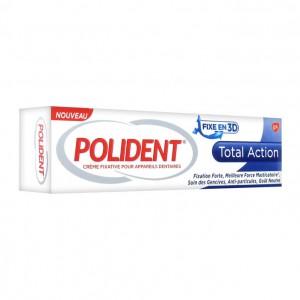 Polident Crème Fixative Total Action 40gr Fixation forte Meilleure force masticatoire Soin des gencives Anti-particules Goût neutre 5054563003386
