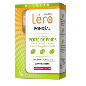 PONDÉAL - Perte de Poids - Arôme Fruits Rouges - 30 Sticks