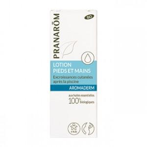 Pranarom Aromaderm - Lotion Pieds et Mains 10 ml Pour soigner les pieds et les mains des excroissances cutanées A partir de 4 ans 100% aux huiles essentielles biologiques