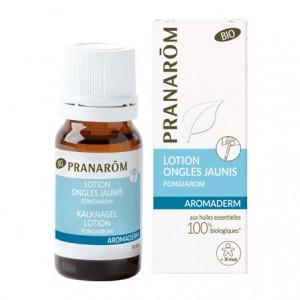 Pranarôm Aromaderm - Lotion Ongles Jaunis BIO - 10 ml Ongles fragilisés et abimés 100% aux huiles essentielles A partir de 30 mois