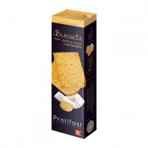 Protifast Biscuits Saveur Noix de Coco et Amandes 20 Biscuits Phase 1 Biscuits Hyperprotéinés Phase Active 1