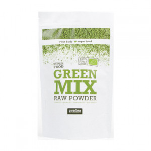 purasana super food green mix raw powder 200g