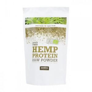purasana super food poudre de proteines de chanvre bio 200g hemp protein raw powder alimentation bio