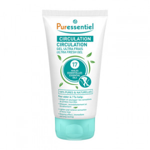 Puressentiel Circulation - Gel Ultra Frais 125 ml Allège et soulage les sensations de jambes lourdes Délasse, immédiatement et durablement