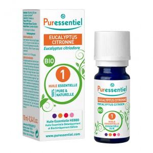 Puressentiel Eucalyptus Citronné - Huile Essentielle BIO - 10 ml Eucalyptus citriodora 100% pure & naturelle