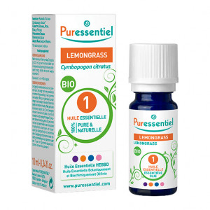 Puressentiel Lemongrass - Huile Essentielle BIO - 10 ml Cymbopogon citratus 100% pure & naturelle