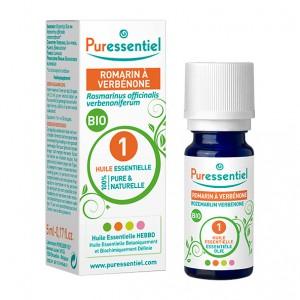 Puressentiel Romarin à Verbenone - Huile Essentielle BIO - 5 ml Rosmarinus officinalis verbenoniferum 100% pure & naturelle