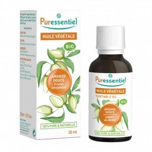 Puressentiel Huile Végétale - Amande Douce BIO - 30 ml Prunus amygdalus 100% pure & naturelle Usage alimentaire