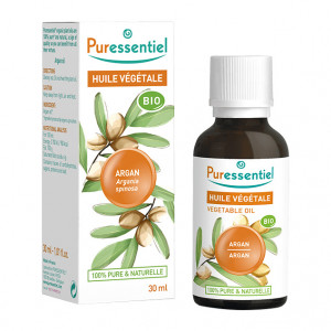 Puressentiel Huile Végétale - Argan BIO  -  30 ml Argainia spinosa 100% pure & naturelle Usage alimantaire