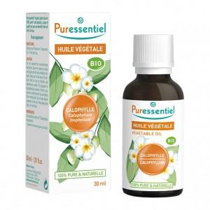 Puressentiel Huile Végétale - Calophylle BIO - 30 ml Calophyllum inophyllim 100% pure & naturelle Massage, visage et corps