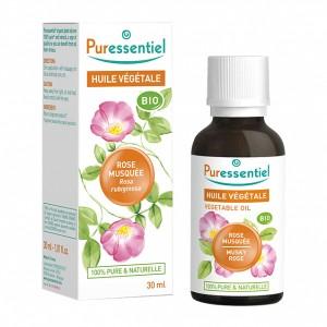 Puressentiel Huile Végétale - Rose Musquée BIO - 30 ml Rosa rubiginosa / canina 100% pure & naturelle Vertus anti-âge