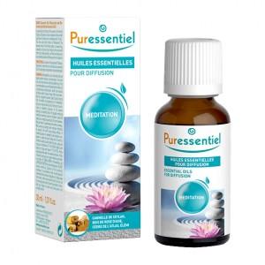 Puressentiel Huiles Essentielles Pour Diffusion - Meditation - 30 ml Avec de la cannelle de ceylan, bois de rose d'asie, cèdre de l'atlas, élémi
