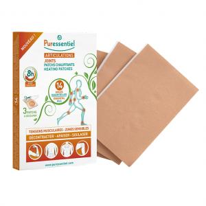Puressentiel Articulations et Muscles - Patchs Chauffants - 3 Patchs Effet chauffant 8 heures 3 patchs à découper Aide à décontracter, apaiser et soulager 3401351277450