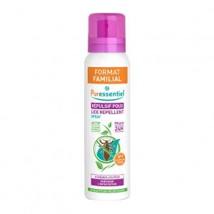 Puressentiel Répulsif Poux - Spray 200 ml Format familial Efficacité 24H 100% origine naturelle Éloigne les poux 0% insectifuge neurotoxique