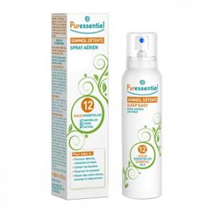 Puressentiel Sommeil Détente Spray aux 12 Huiles Essentielles 75 ml Procure détente, relaxation et repos Calme les tensions Favorise le sommeil Passer des nuits calmes, sereines et réparatrices