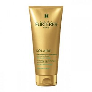 rené furterer shampooing nutri-réparateur après soleil à la cire de jojiba 200 ml anti-sel et anti-chlore
