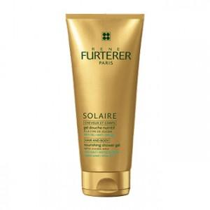 rene furterer solaire gel douche nutritif après-soleil 200 ml cheveux et corps, anti-sel et anti-chlore à la cire de jojoba