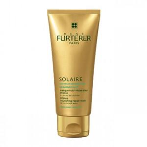 rené furterer solaire masque nutri-réparateur intense après-soleil à la cire de jojoba 100 ml pour cheveux sensibilisés