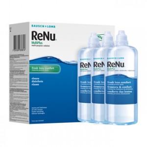 Renu Pack de 3 Multiplus Solution pour Lentilles 3 x 360 ml Fraîcheur et confort 3 étuis inclus