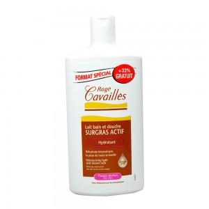 Rogé Cavaillès Lait Bain Douche Surgras Actif 400 ml +33% OFFERT Pour les peaux sèches 3596490004279